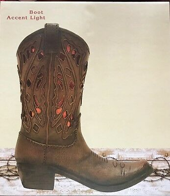 CBOCS Cowboy BOOT ACCENT LAMP 10 3/4 TALL  X 9 WIDE NEW IN BOX