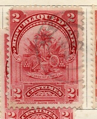 Hayti 1898-1900 Early Issue Fine Used 2c. 234526