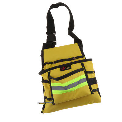 Multi Pocket Tool Belt Cloth Work Pouch Joiner Nail Bag Work Apron Yellow XL