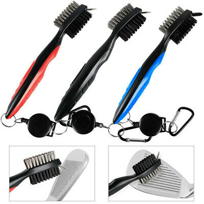 Golf Club Brush Cleaner 3 Pack Retractable Cleaning Clip Groove Shoe Clean Set