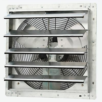 "Shutter Mounted Fan Explosion Proof Garage Cool Air Blades Exhaust 18"" Kitchen"