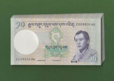 BHUTAN 10 ngultrum 2013 P29 Replacement Z UNC