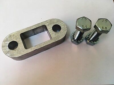 """Tow Bar Ball Spacer Trailers Caravans 1"""" & 75mm Long Bolts Nuts Washers"""
