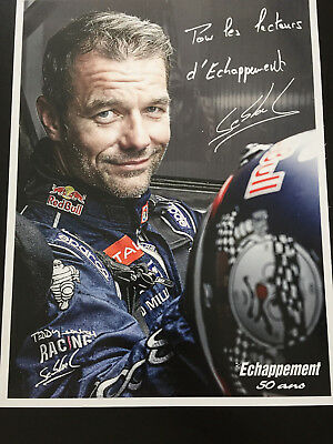 Cp Postcard Cartolina Photo Dedicacee Seb Loeb Echappement Wrc Rally Rallye 2018