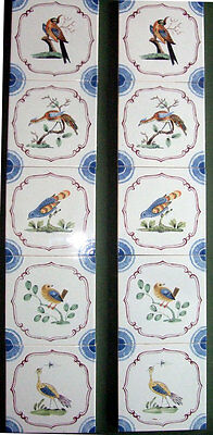 Charming Original Vintage Set of Ten STOVAX English Delft Fireplace Tiles