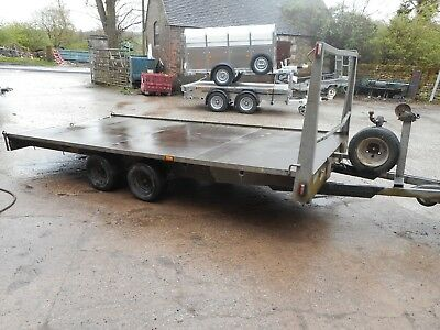 14Ft X 6Ft8 Flat Bed Trailer With Ramps C2205