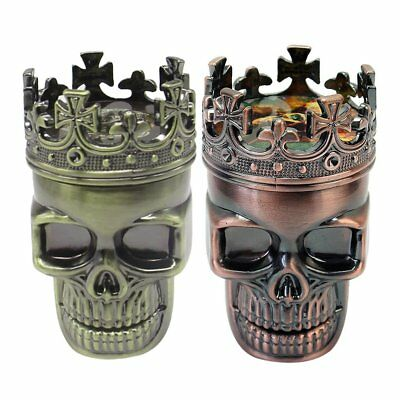 3 Layers Men Skull Head Shape Grinder Portable Tobacco Herb Spice Crusher QD