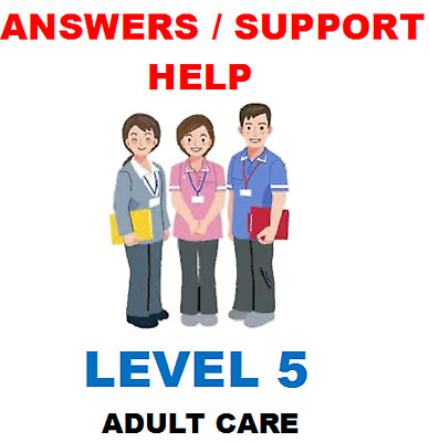 All the answers to 14 Units Of The NVQ Level 5 Health and Social Care