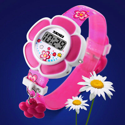 Children Student Watch Flower Pattern Wristwatch Casual Lovely Colorful Kids SW