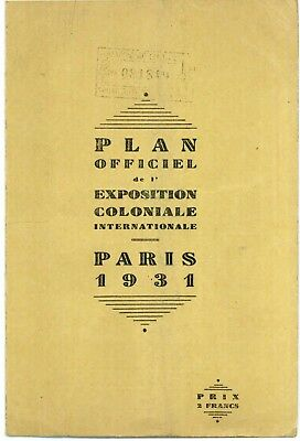 Plan Officiel de`Exposition Coloniale Internationale, Paris 1931