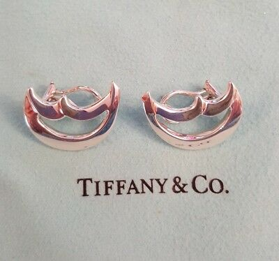 Tiffany & Co. Paloma Picasso Sterling Silver Large Lunar Moon Earrings