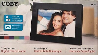 COBY Digital Photo Frame 7-inch Wide DP700 Wide Metal Green