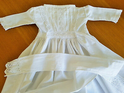 "Edwardian child's nightgown nightdress/ High Quality White Cotton/ 99cm 39"" long"