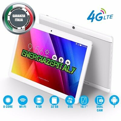 TABLET 10 POLLICI 4G OCTA CORE 8x2.0GHz 4GB RAM 32GB ROM ANDROID 7  DUAL SIM🇮🇹
