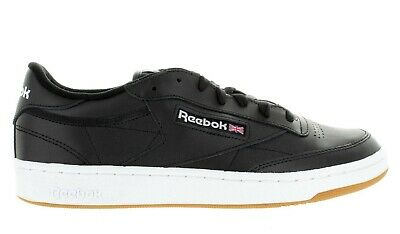 dd0237397c4 Men s Reebok Club C 85 Classic Ar0458 Black White Gum Deadstock Brand New