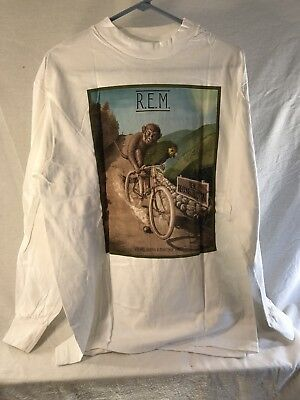 REM Vintage Tee, Reconstruction 1985, Tour, original unworn, White, Large