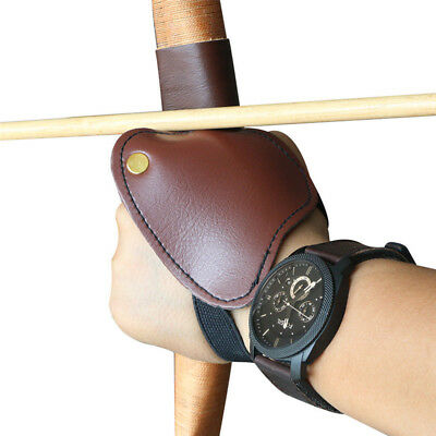 Bow Arrow Archery Glove Hunting Shooting Hand Guard Protector Leather Left Hand