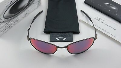 5df6634e38 Oakley Whisker Titanium Pewter Positive Red Iridium 12-781 Wire+Original  Box NEW