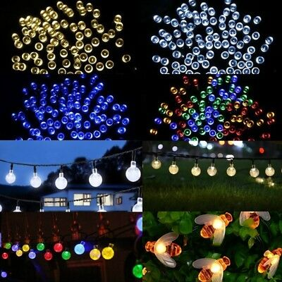 30 50 200 LED Solar Power Fairy Lights String Garden Outdoor Party Wedding Xmas