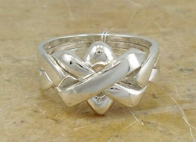 UNIQUE .925 STERLING SILVER CELTIC PUZZLE RING size 7 style# r1952