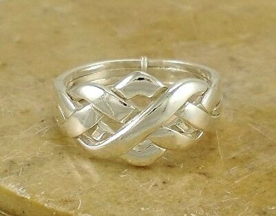UNIQUE .925 STERLING SILVER CELTIC PUZZLE RING size 6 style# r2199