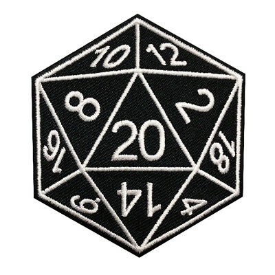 Dungeons Dragons Embroidered Iron on Sew on Dice Stranger Things PATCH