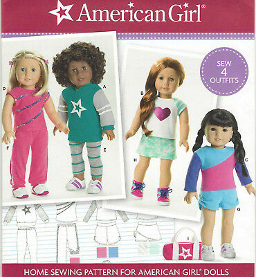 "18"" AMERICAN GIRL DOLL Athletic Clothes SKORT Simplicity 8042 Sew Pattern UNCUT"