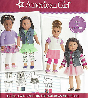 "18"" AMERICAN GIRL DOLL Modern Clothes Simplicity 8041 Sewing Pattern UNCUT"