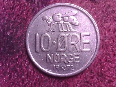 Norway  10   Ore   1972   Free  Shipping