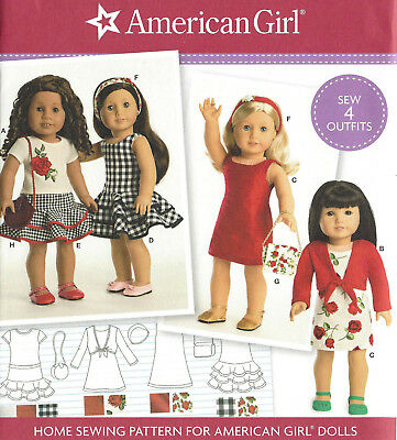 "18"" AMERICAN GIRL DOLL Clothes, PURSE Simplicity 8536 Sewing Pattern UNCUT 2017"