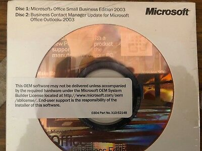 MICROSOFT OFFICE Small Business Edition 2003  NEW SEALED