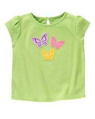 Gymboree Girls Butterfly Tee Sz 3T 4T 5T Spring Summer Nwt