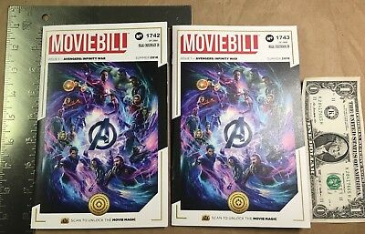(Lot of 2) MOVIEBILL Avengers: Infinity War Limited Edition Regal Booklets
