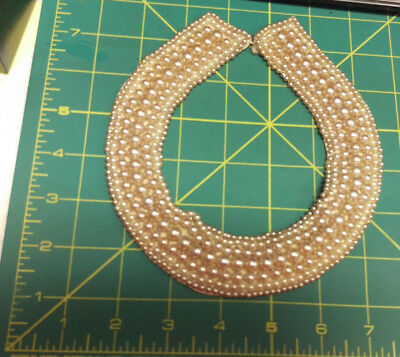 Vintage Faux Pearl Beaded Collar - no markings or tags - hook and eye closure