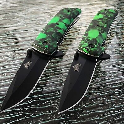 10 x MASTER USA ASSISTED OPEN TACTICAL GREEN FOLDING POCKET KNIFE BLADE ASSIST