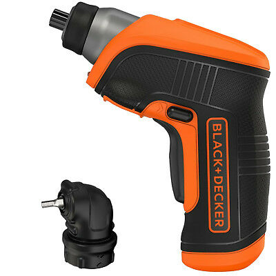 Black & Decker 3.6v Lithium Rechargeable Screwdriver with Right Angle Attachment