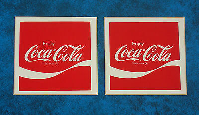 2 x  Vintage 1970,s  COCA-COLA  soft drink advertising stickers
