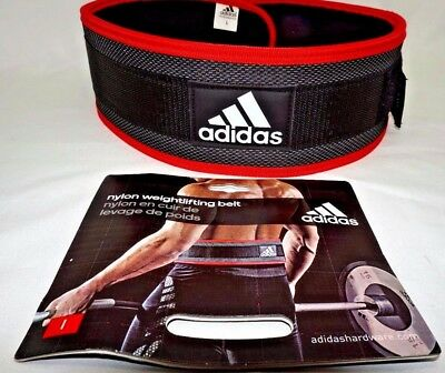 Adidas Belt Nylon Weight Lifting Belt Fitness Sports Lumber Support Health