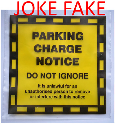 5 Fake Parking Fine Fixed Penalty Notice Joke Prank Traffic Offence Tickets Best