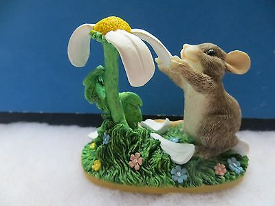 """CHARMING TAILS """"You Love Me-You Love Me Not"""" SIGNED by Dean Griff 2001 Mint"""