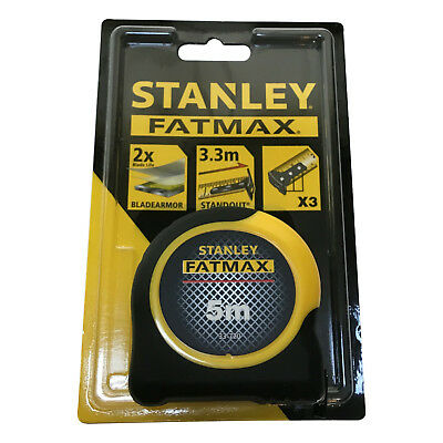 Stanley FatMax Blade Armor 5m Tape Measure STA033720 3.3m Standout 32mm Wide