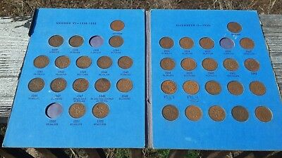Canada Small Cents Collection 1937 to 1964 ---  36 coins