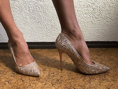 detailed look 7dc1d bc6c4 BUFFALO GLITZER-PUMPS BRONZE / High Heels / Stilettos / Stöckelschuhe,  Größe 40D