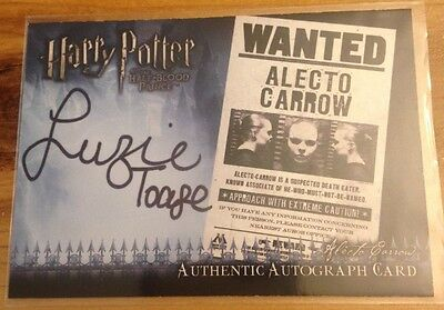 Harry Potter & The Half-Blood Prince Autocard Suzanne Toase as Alecto Carrow