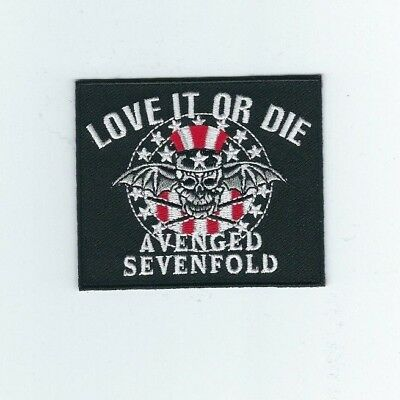 Avenged Sevenfold Love It Or Die Embroidered Patch !
