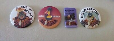 """Vintage Lot of 4 DISNEY DINOSAURS 3"""" & BUTTONS - Never used or displayed"""