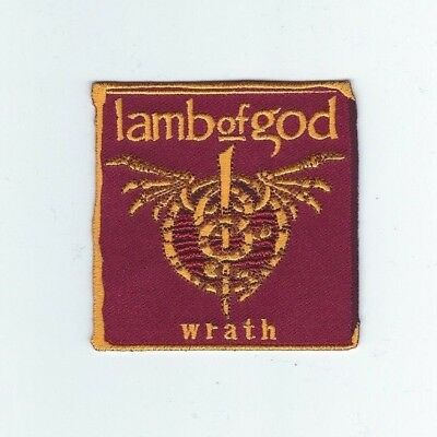 Lamb Of God Wrath Embroidered Patch !