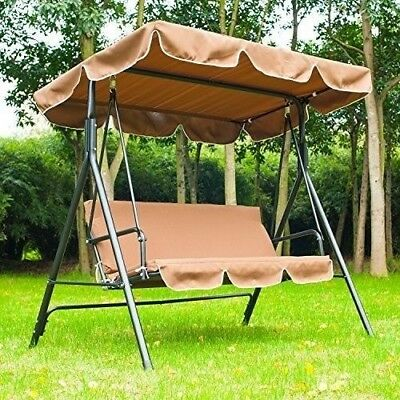 Garden Swinging Hammock Patio Swing Chair Canopy Outdoor Cushioned Bench Bed 151 28 Picclick Uk