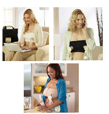 Medela Easy Expression Hands Free Bustier Bra NEW Choose Black Nude White USA