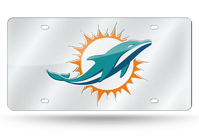 Miami Dolphins NFL Football Mirror License Plate - Auto Tag - Vanity Plate